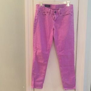 J Crew Toothpick Ankle Jeans